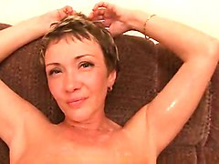 Hot Milf Lisa Gets Double Penetration And Bukkake At Home