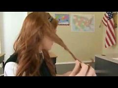 Slutty Redhead Teen Schoolgirl Fucked By Teacher