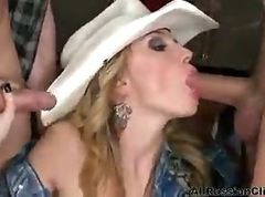 Nataly Von Sexy Russian Cowbabe russian cumshots swallow