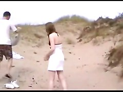 A dutch girl fucked at the beach