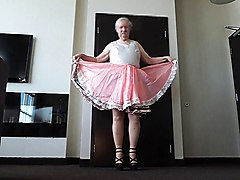 Sissy Ray in Pink Sissy Dress (Twirling Upskirt)