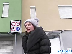 HornyAgent Outdoor sex filmed amateur camcorder in publi