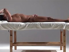 Indian Oilde Massage Handjob & Cumshot