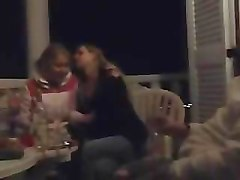 amateur lesbians smoking touching & kissing
