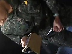 korean soldier caught jerking off