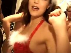 Hot Christmas orgy at home
