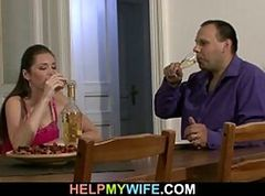 Sultry wife cheats on husband with pizza guy