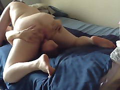 sexy milf bbw lays wet pussy on husband face in 69 before she's banged hard