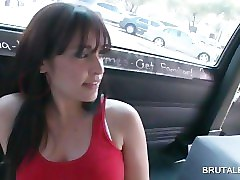 amateur blondies gives bj in the sex bus