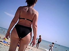 big ass mom at beach