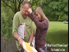 Grandpa Love Young Blond Teen