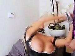 roughly fucks maid in uniform anal and mouth