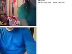 3 hot teens react and love self ballbusting on omegle
