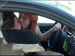 Caught To Fuck In The Car