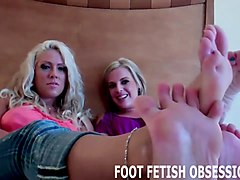 worship our feet and we will give you a surprise