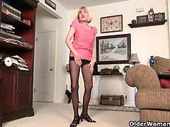skinny grannies bossy rider and maria stripping off