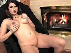 gorgeous busty milf solo orgasm with vibrator