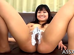 naughty asian blowjob and shaving