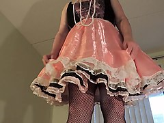 sissy ray in pink sissy faggot fairy dress 2