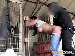 fake cop farmers slut fucks cops truncheon