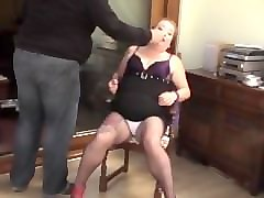 smoking a cig then chained and make up removed bbw crying