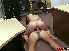 cuban hottie gets banged in the backroom
