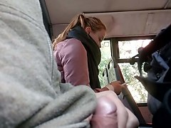 almost caught wank in bus by women