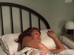 Horny Redhead Milf Slut Blows Big Cock