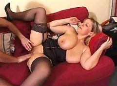 Fat mature in stockings fucked