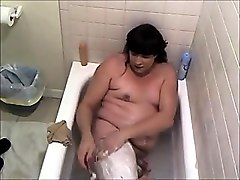 shaving within the bathtub