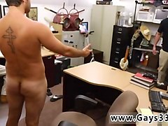 straight guy spanks his monkey in front of two twinks