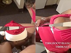 ts big booty bianca: mrs. claus fucks phat booty elf!