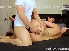 two hot milf's taboo fucking threesome creampie mom & son
