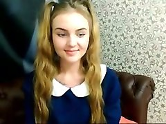 appealing russian teen stripping teasingly on webcam