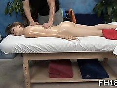 hawt 18 beauty gets fucked hard by her massage therapist
