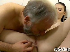 crazy old guy licks  pussy segment film 1