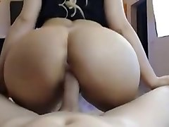 couple fucking doggy cowgirl blowjob & footjob big sexy ass