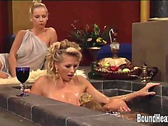 slave tears of rome ii: massage with lesbian goddess
