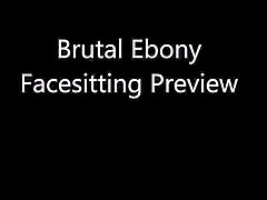 brutal ebony facesitting preview
