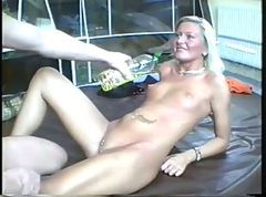 Blonde German Amateur Oiled Fuck! - SNC