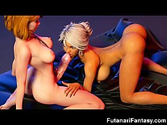 3d big dick futa fuck girls!