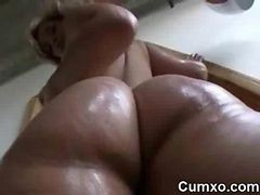 Big Ass Ghetto Slut Oiled And Solo Phat Ass