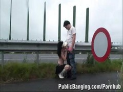 Young Girl In Public Freeway Sex In The Rain