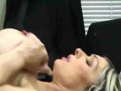 Busty Blonde Caught Fucking At Work