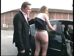 Housewife Spanked By Her Husband In The Street