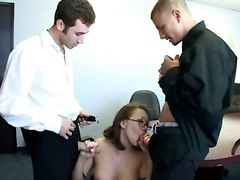 Hot Temp Two Cock Office Fuck