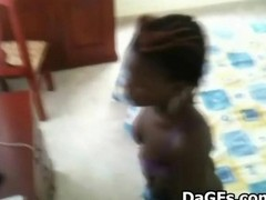 Ebony Maid Caught On Spycam