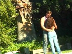 Playing Vaginal With Black Bitch In Garden