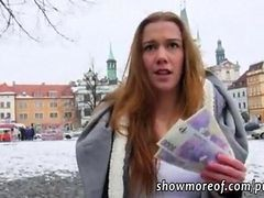 Slutty Euro Skank Public Flashing And Gets Creampied For Cash