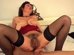 Hot Busty Hairy Mature Squirting